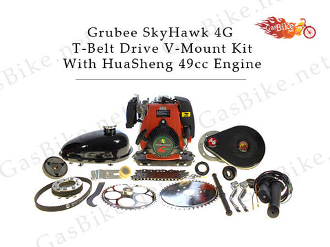 Grubee SkyHawk 4G T-Belt Drive V-Mount Kit, With HuaSheng 49cc Engine