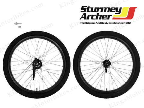 Double Wall 12 Gauge Aluminum Wheels Set With Sturmey Archer X-FD (Black) 80CC G