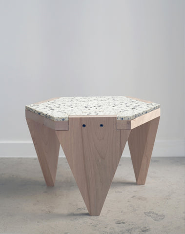 Hexa wood low stool - 2021 edition
