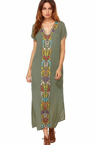 Provence Dress - Khaki - Sizes XS & S