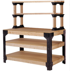 1000 lbs. Workbench Kit with ShelfLinks Shelving Storage Unit Natural Finish