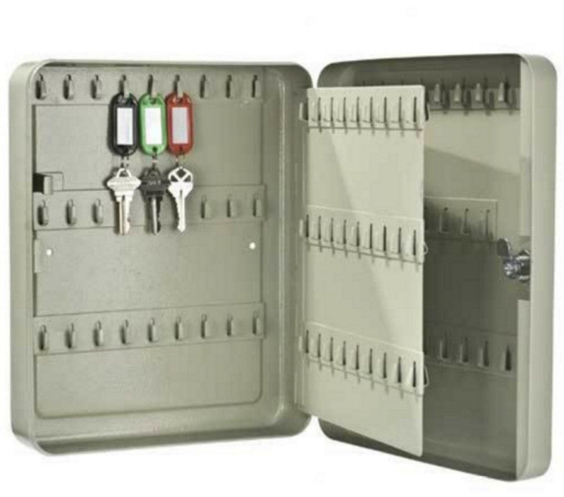 105-Position Key Safe Wall Mount Key Cabinet Durable Organizer Gray Finish