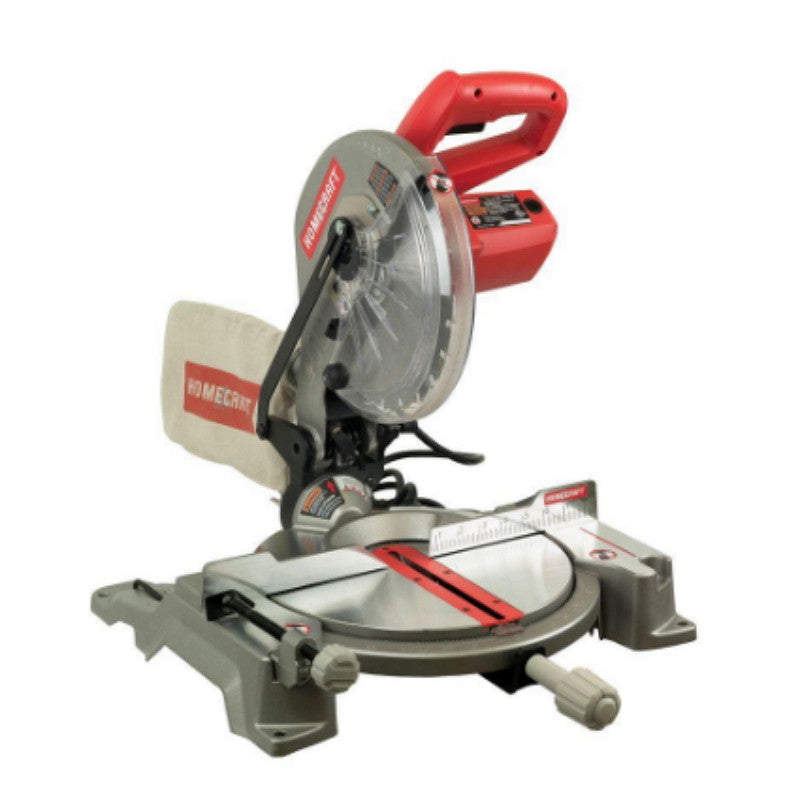 10 Inch Miter Saw with Built-in Laser Dust Collection Bag & Work Clamp Included