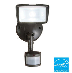 110 Degree Outdoor Motion Activated LED Security Floodlight Bronze Finish
