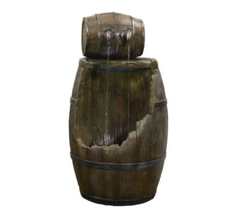 Barrel Water Fountain with LED Light
