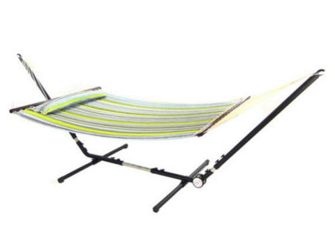 Adjustable 10 To 12 Foot Hammock Stand with Steel Tube Frame Fits Most Hammocks