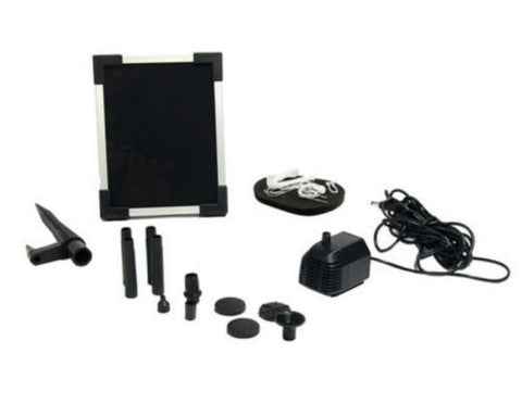 "Outdoor Solar Pump And Panel Kit With 20"" Lift"