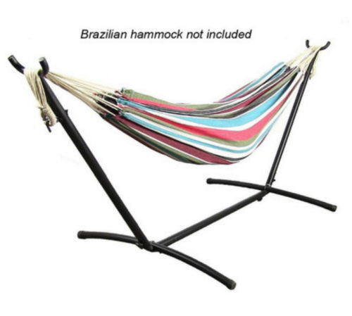 Portable Black Brazilian Hammock Stand With Carrying Case
