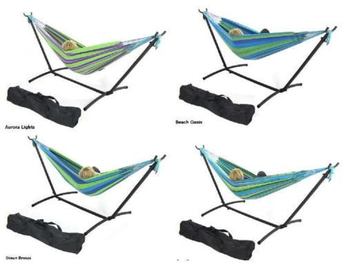 Hammock With Adjustable Stand & Carrying Case Combo