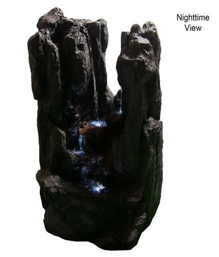 Electric Outdoor Rock Fountain with LED Lights