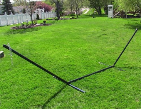 15 Foot Hammock Stand With 20 Inch Heavy Gauge Hanging Chains Steel Tube Frame