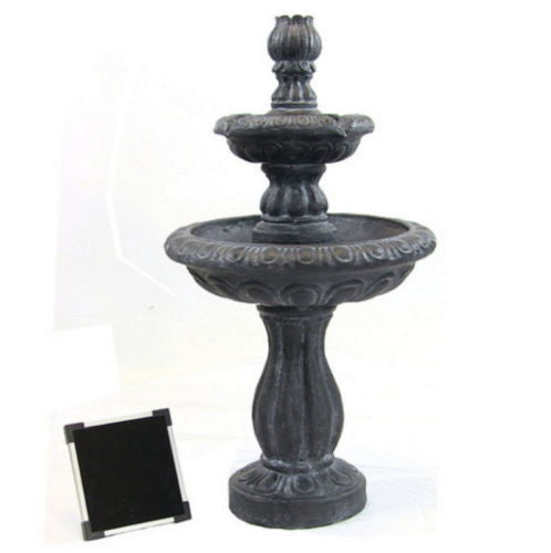 Solar On Demand 2 Tier Water Fountain in Black