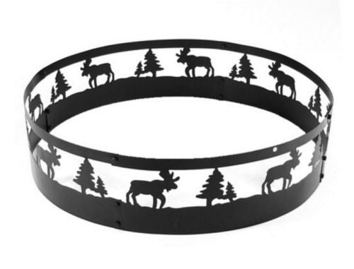 Steel 36 Inch Wild Moose Fire Pit Ring