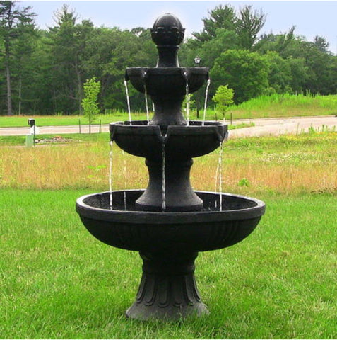 Black 3 Tier Electric Water Fountain