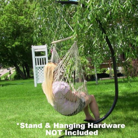 Cotton Rope Hammock Swing Chair With Spreader Bar