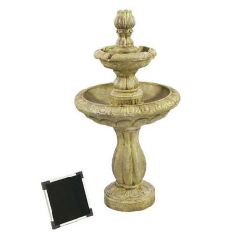 2 Tier Outdoor Solar On Demand Water Fountain