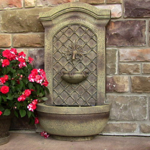 Outdoor Solar On Demand Wall Water Fountain