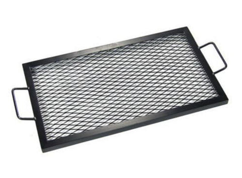 36 Inch Black Heavy Duty Steel Rectangle Fire Pit Cooking Grill Grate Firepit
