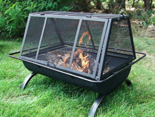 Outdoor Wood Burning Fire Pit with Poker