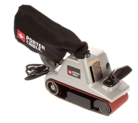 12 Amp 4 In. x 24 In. Variable Speed Belt Sander with Swivel Large Dust Bag