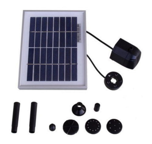 "Outdoor Water Fountain Solar Pump And Panel Kit w/ 36"" Head"
