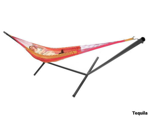Double Hammock With Stand Combo Two Person Mayan Handwoven Outdoor Furniture New