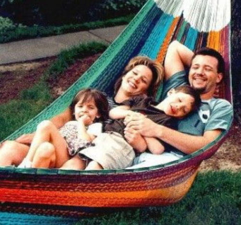 Durable Comfortable Outdoor Hand Made Family Mayan Hammock Multi Color