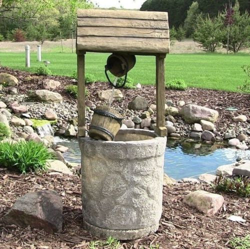 Electric Wishing Well Garden Fountain