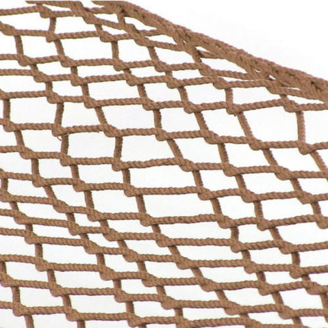 Brown Rope Hammock With Pillow Spreader Bars & Hanging Chains