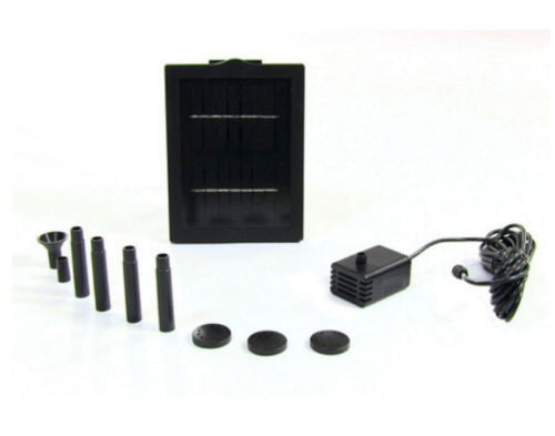 "Water Fountain Solar Pump And Panel Kit With 24"" Lift Adapters"