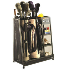 17.5 in. x 32 in. Golf Organizer Heavy-Duty with 3 Shelves with Bag Storage