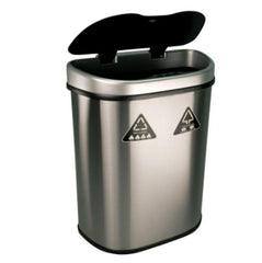 18.5 Gallon Motion Sensor Auto Open Recycling Bin Stainless Steel Garbage Can
