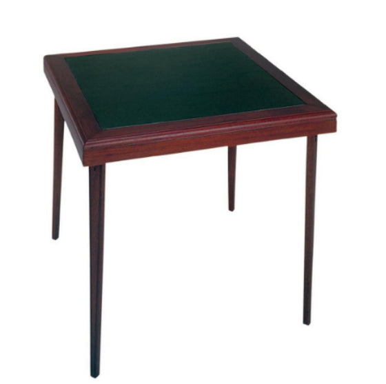 32 In. x 32 In. Square Wood Vinyl Folding Table Home Furniture Dark Mahogany