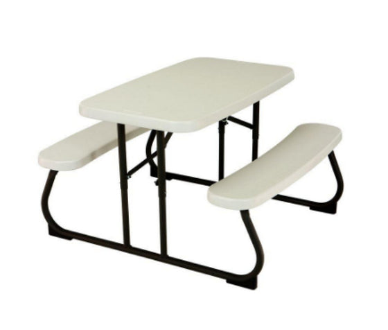 35-1/2 in. x 32-1/2 in. Kids Picnic Table with Benches Portable Lightweight