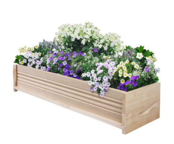 36 in. L Cedar Planter Box Patio Garden Flower Box Rectangular Outdoor Planter