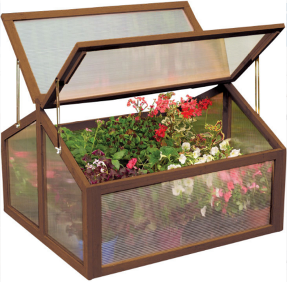 3 Ft.W x 3 Ft. D Cold Frame Greenhouse with 2 Door Adjustable Outdoor Garden Use