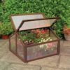 Image of 3 Ft.W x 3 Ft. D Cold Frame Greenhouse with 2 Door Adjustable Outdoor Garden Use