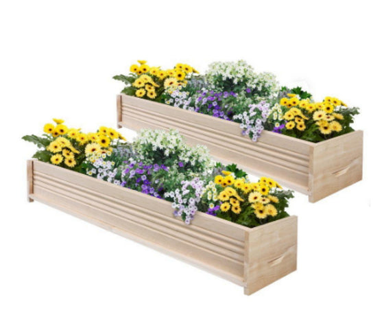 48 in. L Cedar Planter Box Set of Two Weather Resistant Patio Planter