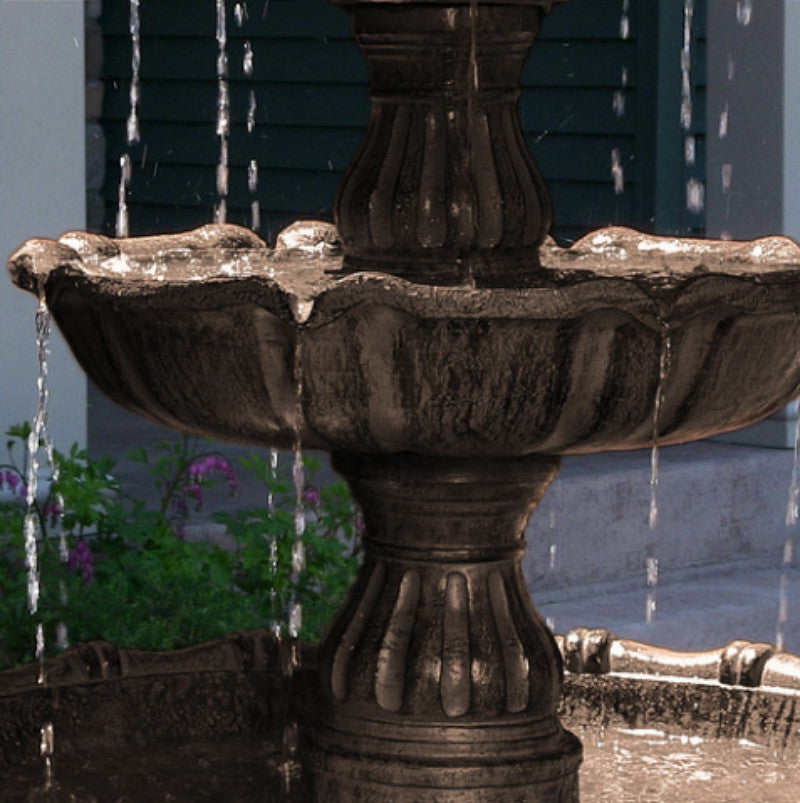 Large 4 Tier Electric Garden Water Fountain