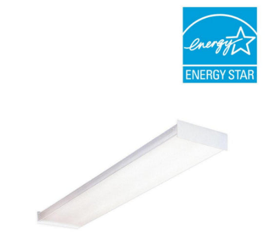 4 ft. Fluorescent Wraparound Lens Ceiling Fixture 4-Bulb with Instant-on Ballast