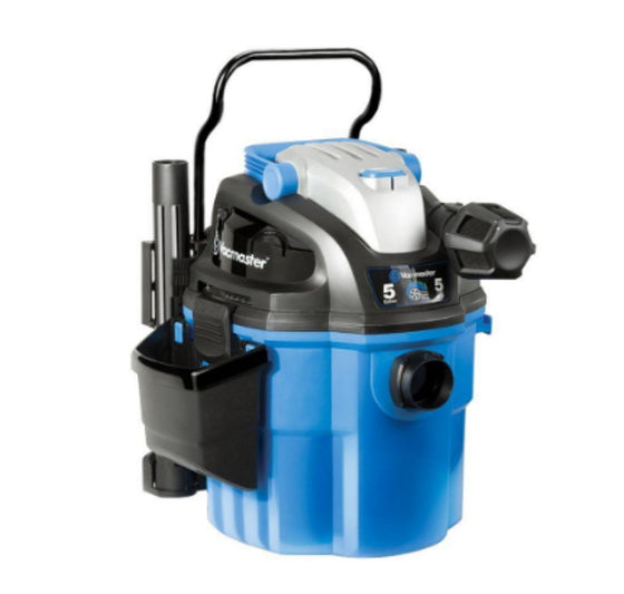 5-Gallon Wet/Dry Wall-Mount Vacuum Cleaner 2-Stage Motor with Remote Control