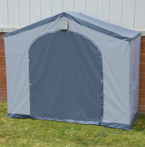 6 Ft. W x 2 Ft. D Portable Shed Portable Storage Unit Outdoor Garden Shed Gray