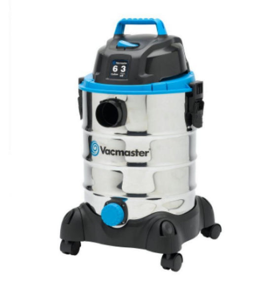 6 Gallon Stainless Steel Wet/Dry Vac with Blower Function Lightweight Cleaner