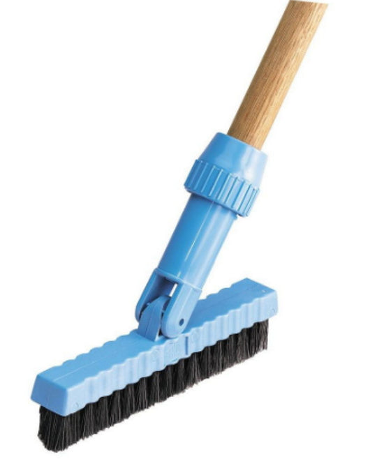 7-1/2 in. Black Pivoting Head Brush (12-Pack) Swivel Cleaning Equipment