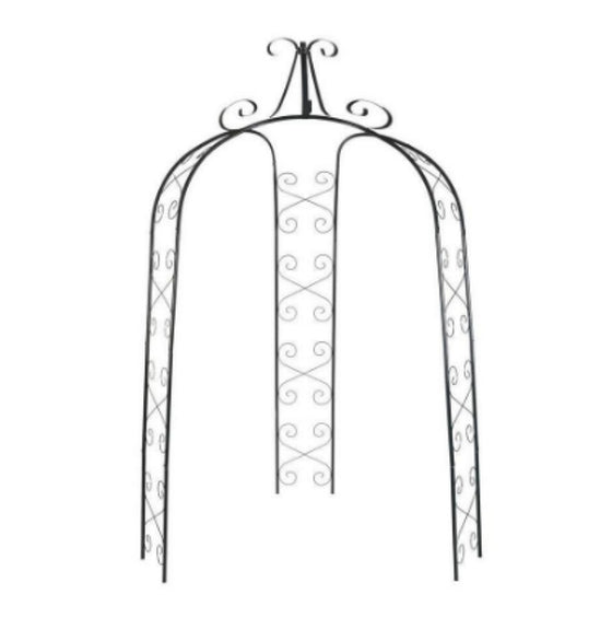 71 in. W x 91 in. H Gazebo Trellis Arch Garden Furniture Hunter-Green Finish