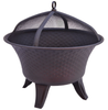 Image of Bella Fire Pit Contemporary Fire Bowl Outdoor Fireplace Speckled Bronze Finish