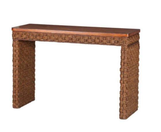 Cabana Banana II Console Table in Cinnamon Hand Braided Living Room Furniture