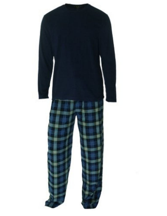 Club Room Men's Fleece Pajama Set of 2 Small Super-Comfy Sleepwear McDonald Navy
