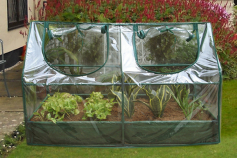 Cold Frame Mini Greenhouse with Raised Garden Bed Outdoor Patio Furniture