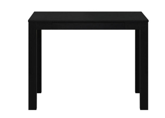 Contemporary Writing Desk with Storage Drawer Home Office Furniture Black